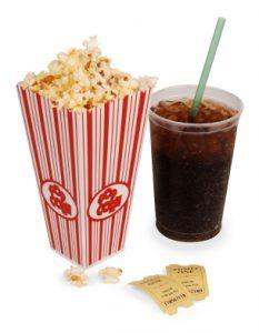 Popcorn e cola